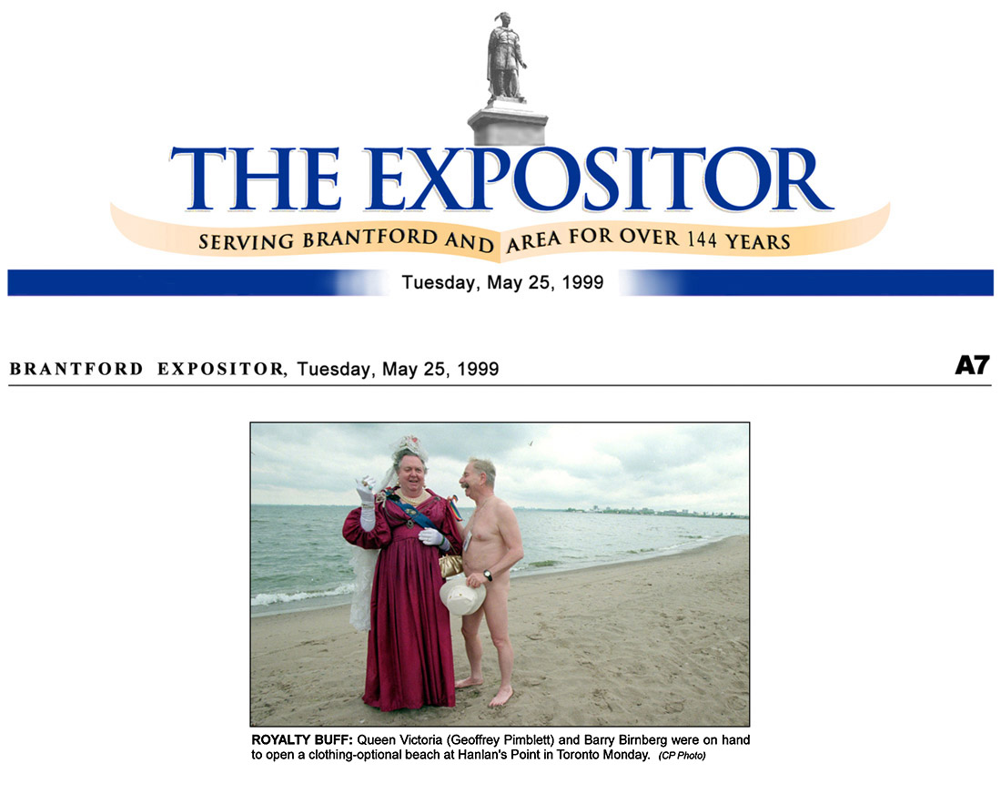 Brantford Expositor 1999-05-25 - Hanlan's Point CO-zone opens